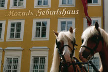 The birthhouse of Wolfgang Amadeus Mozart in Salzburg