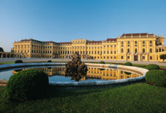 The Schoenbrunn Castle in Vienna
