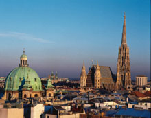 Vienna Center with the St. Stephan's Cathedral