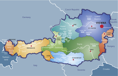 Geographical Map of Austria - Click to enlarge!