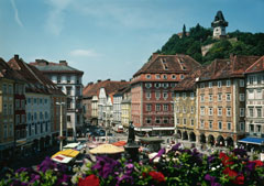 The Old Town of Graz in Styria, Austria