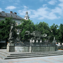 The Lindwurm in Klagenfurt, Austria